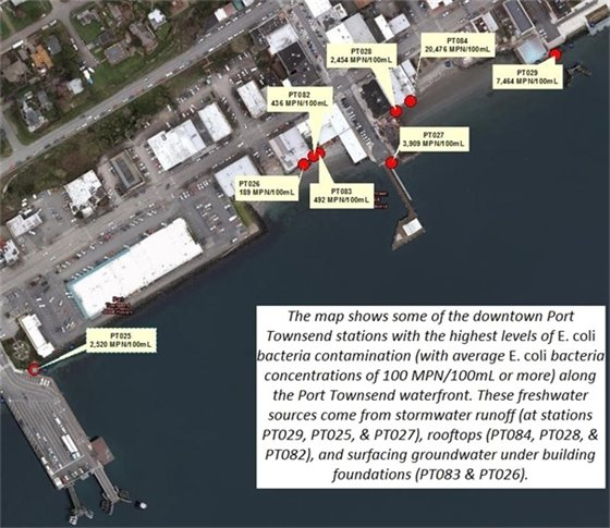 Port Townsend Waterfront Map