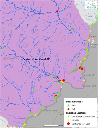 Central Hood Canal Map