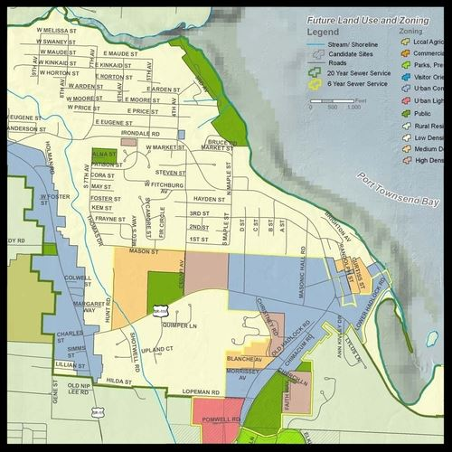 Port Hadlock Future Land Use and Zoning map
