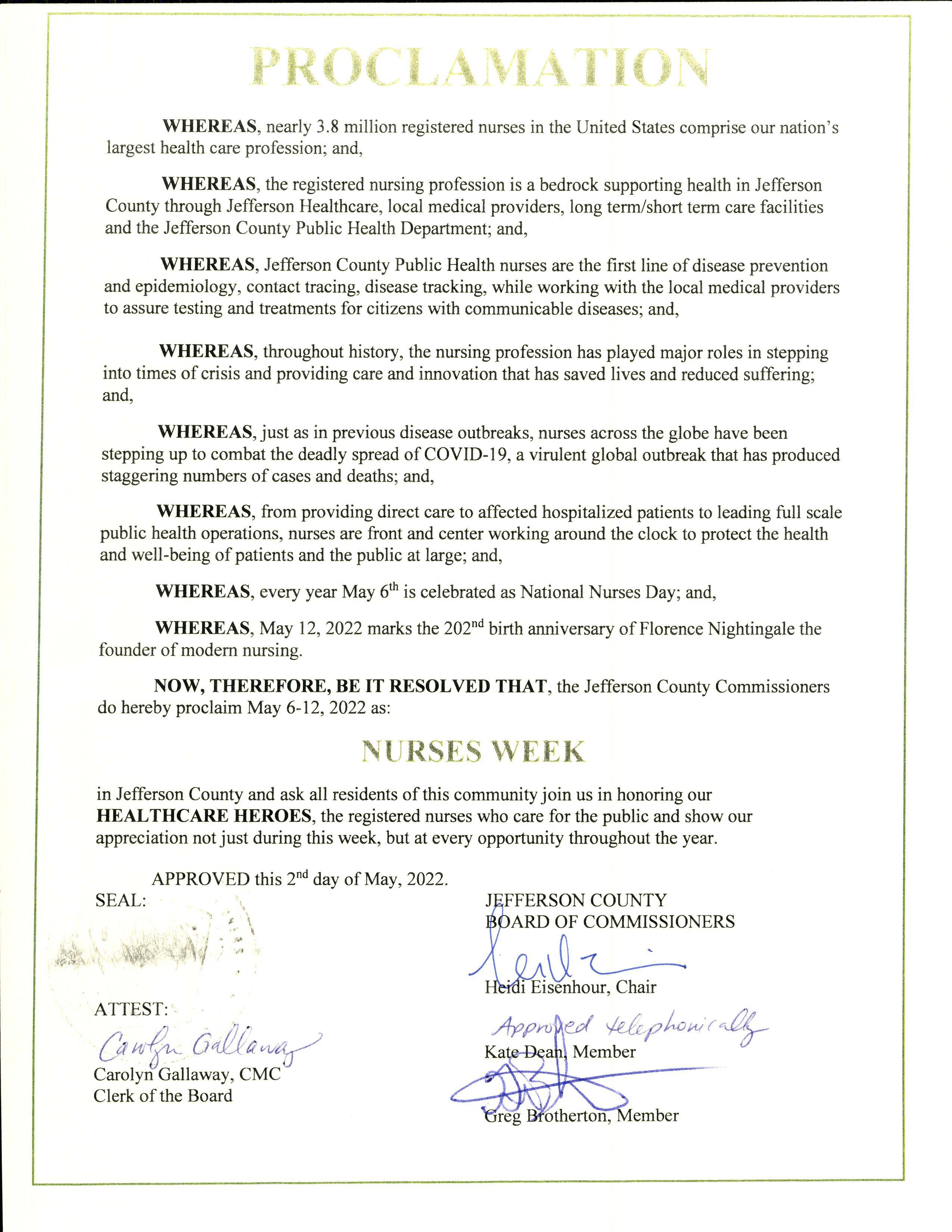 PROCLAMATION re_ Proclaiming May 6-12 2020 as Nurses Week_Page_1
