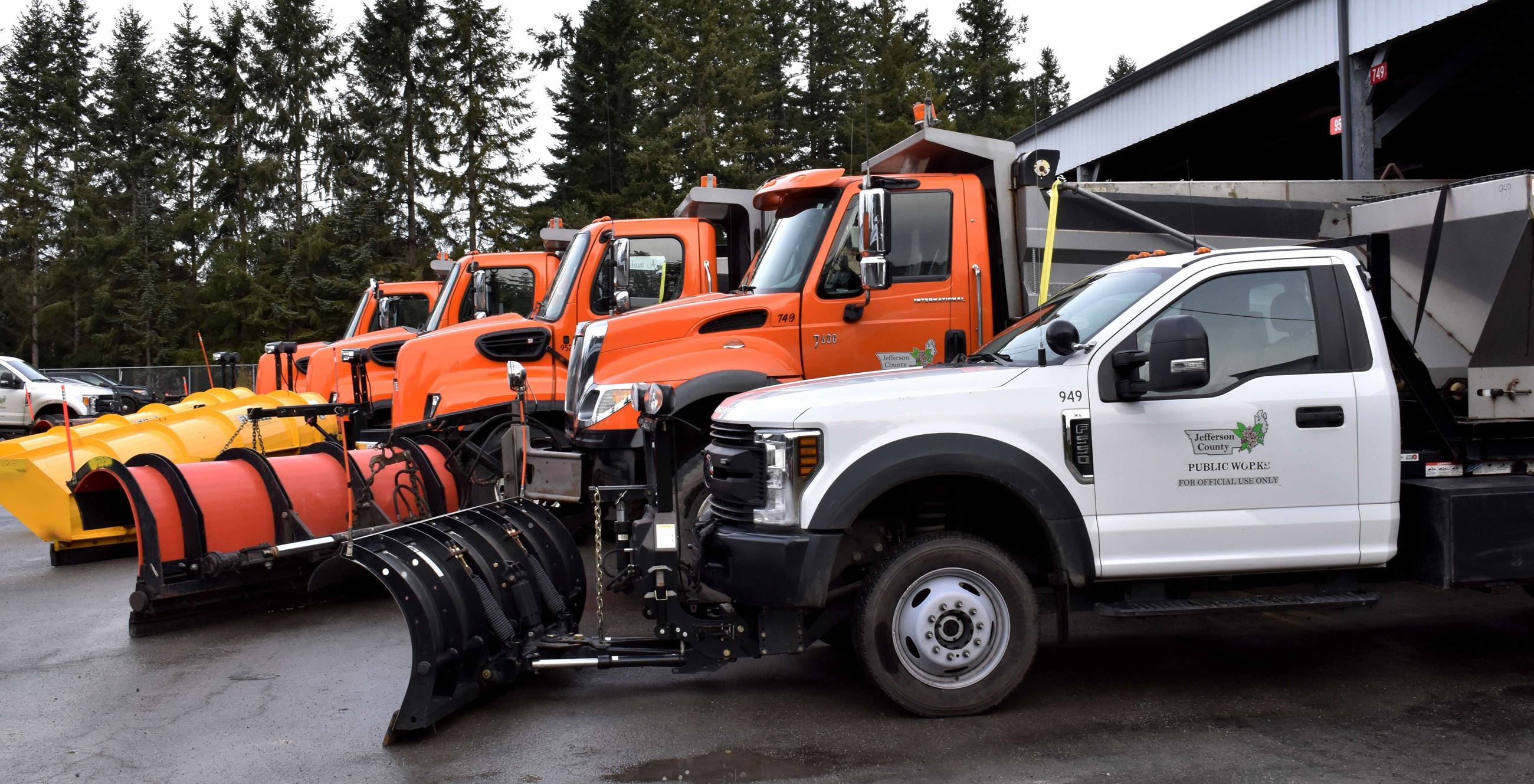 Hadlock plow trucks prepared for snow